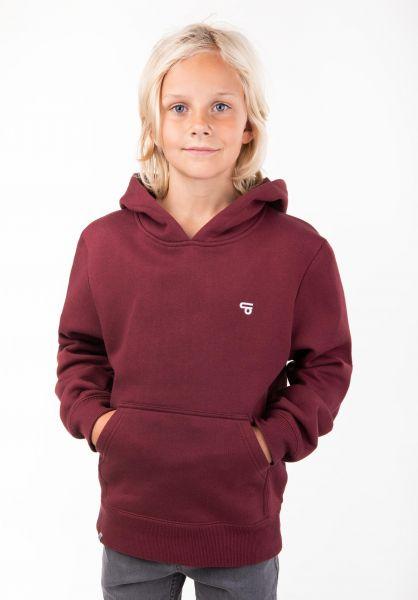 TITUS Hoodies Uni Hood Kids burgundy vorderansicht 0442423