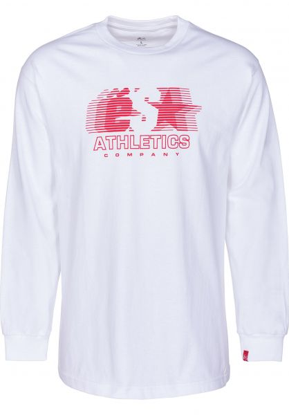 ES Longsleeves Athletic white vorderansicht 0382951