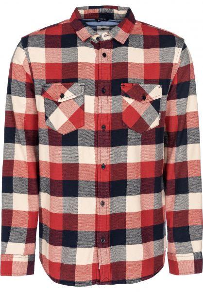 Element Hemden langarm Tacoma 2.0 pompeianred vorderansicht 0411826