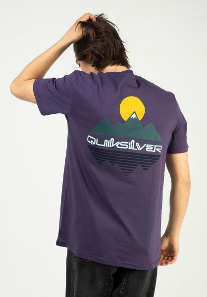 Quiksilver T-Shirts Reflect purple-plumeria vorderansicht 0323156