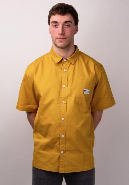 Plenty Humanwear Hemden kurzarm Victor Button Down tuscan vorderansicht 0400887