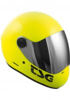 TSG Fullface-Helme Pass Solid Color acidyellow Vorderansicht