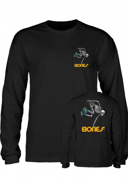 Powell-Peralta Longsleeves Skateboard Skeleton black Vorderansicht