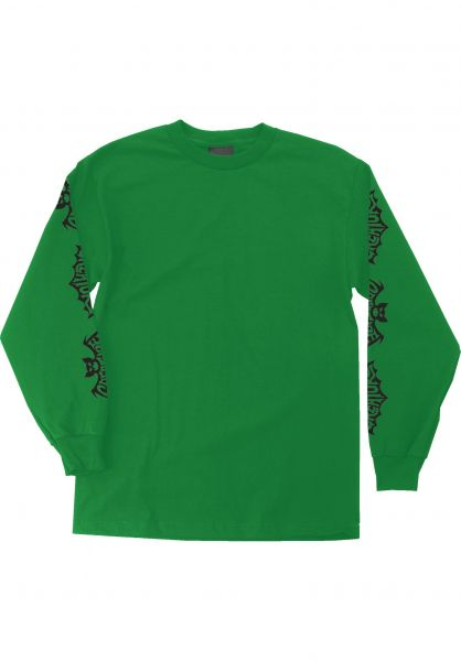 Creature Longsleeves Batty kellygreen vorderansicht 0382643
