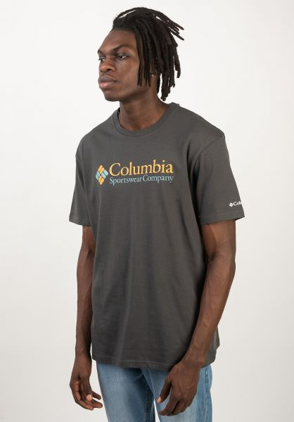Columbia T-Shirts North Cascades shark-goldenyellow vorderansicht 0320626