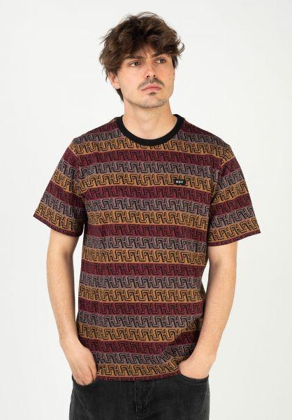 HUF T-Shirts Jacquard olive vorderansicht 0323412