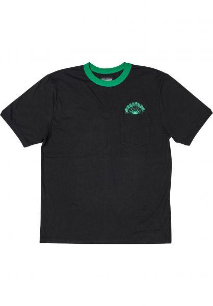 Creature T-Shirts Web S/S Ringer black vorderansicht 0324217