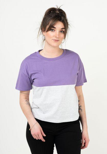 TITUS T-Shirts Mirka violet-lightheathergrey vorderansicht 0398465