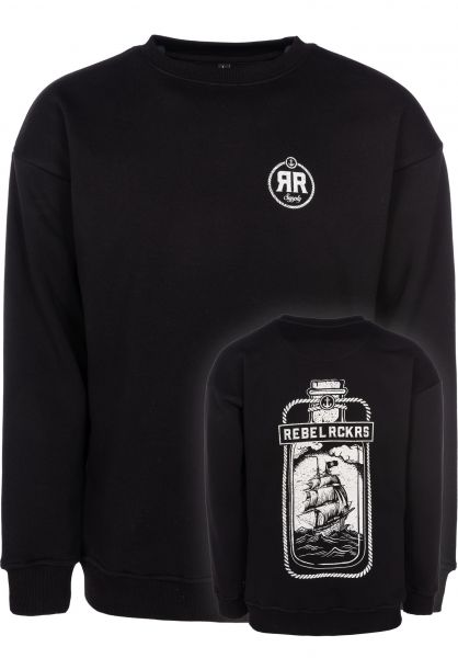 Rebel Rockers Sweatshirts und Pullover Crewneck Bottle black vorderansicht 0422679