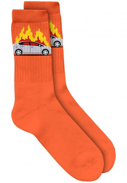 Skate-Mental Socken Prius Fire orange Vorderansicht