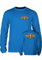 Powell-Peralta Longsleeves Winged Ripper royal-blue Vorderansicht