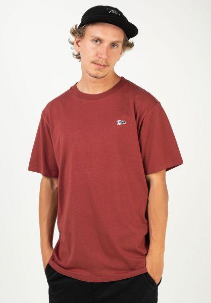 TITUS T-Shirts Script Tee red-ochre vorderansicht 0320149