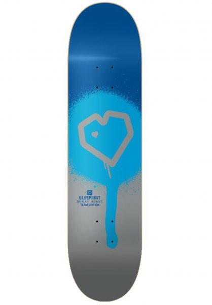 Blueprint Skateboard Decks Spray Heart blue-silver vorderansicht 0263521