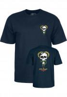 Powell-Peralta-T-Shirts-Mc-Gill-Skull-Snake-navy-Vorderansicht