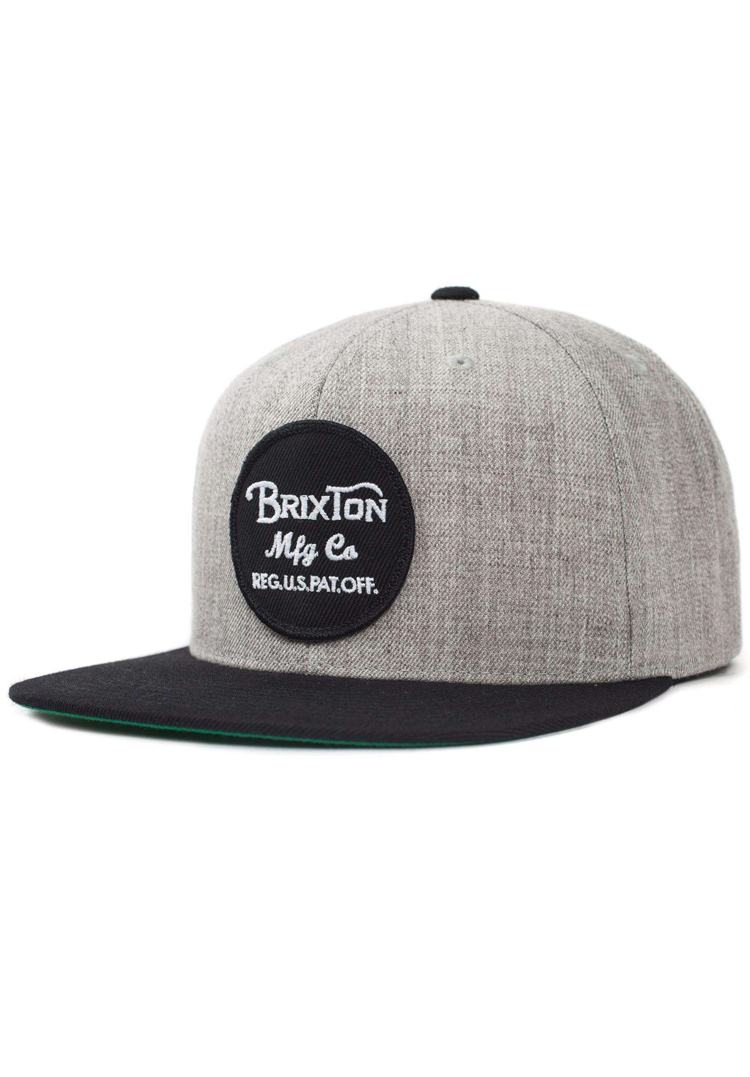 54286e1eb6f Wheeler Brixton Caps in lightheathergrey-black for Men