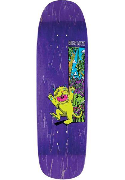 Welcome Skateboard Decks Brian Lotti Wild Thing Golem neonyellow-variousstains vorderansicht 0261357