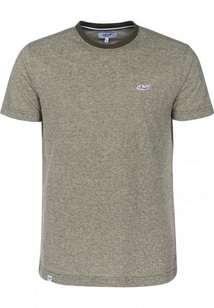 Reell T-Shirts Pique olive Vorderansicht