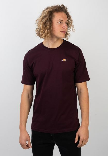 Dickies T-Shirts Stockdale maroon vorderansicht 0397354