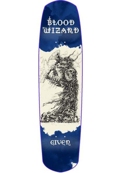 Blood Wizard Skateboard Decks Given Neanderwolf blue vorderansicht 0263601