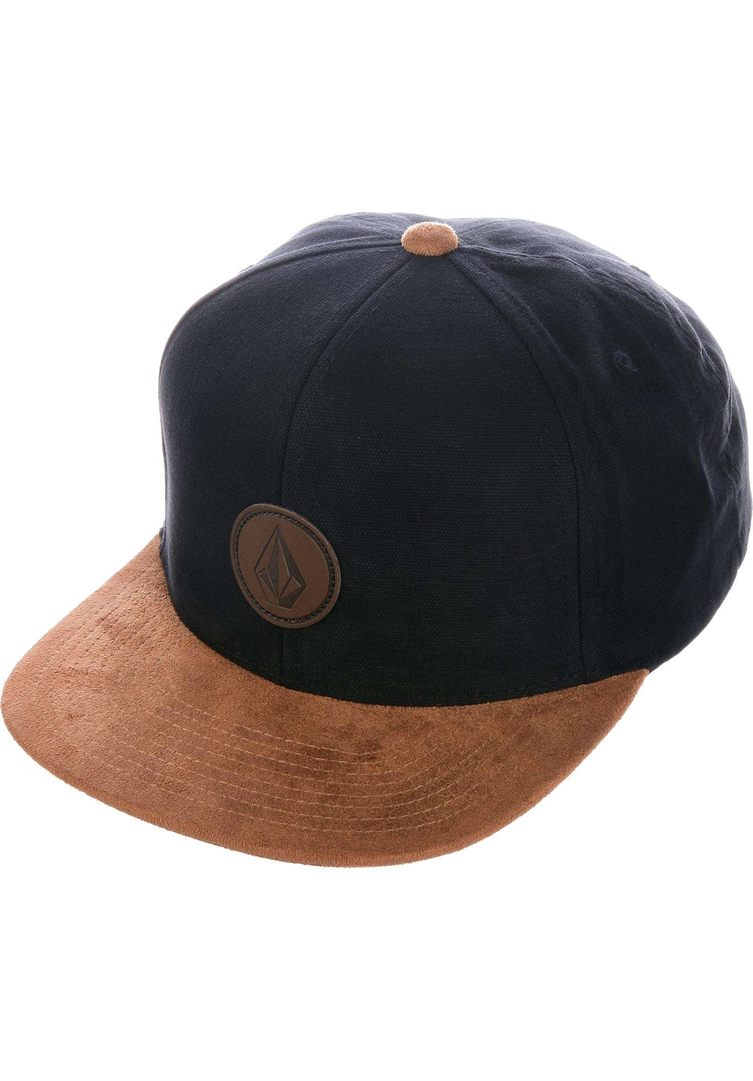 factory authentic d76b2 fd0bf ... discount quarter fabric volcom caps in vintageblack for men titus f21bb  9657e