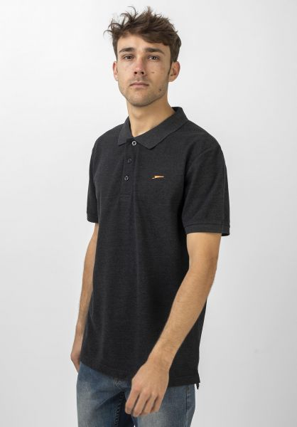 Rules Polo-Shirts Maik darkgreymottled vorderansicht 0138302