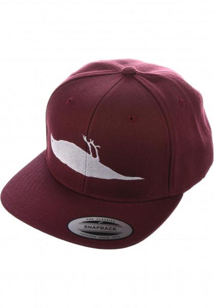 Atticus Caps Solid Bird burgundy Vorderansicht