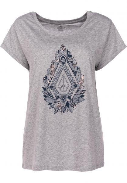 Volcom T-Shirts Radical Daze heathergrey vorderansicht 0398711 5358e78ab3