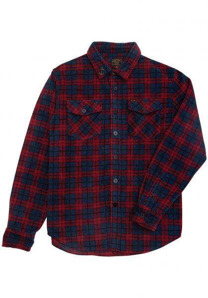 Dark Seas Hemden langarm Zulu red-blue vorderansicht 0411909