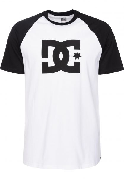 DC Shoes T-Shirts Star Raglan black-white Vorderansicht
