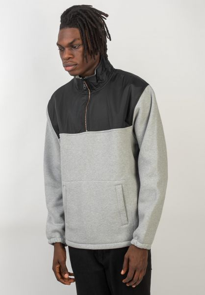 Levis Skate Sweatshirts und Pullover Skate Quarter Zip-Up heathergrey vorderansicht 0422751