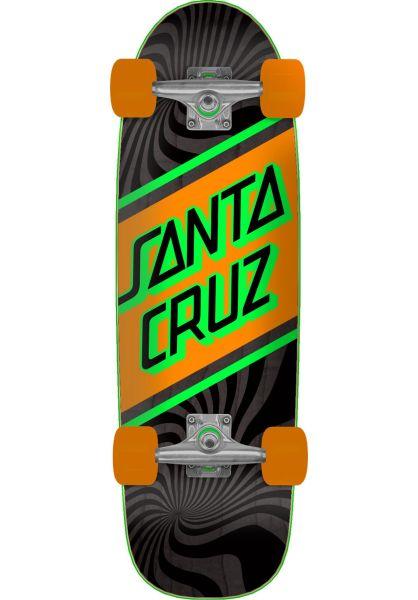 Santa-Cruz Cruiser komplett Street Skate Street Cruzer black-orange vorderansicht 0252719