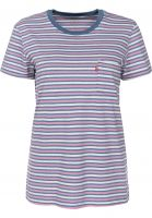 Levi's® T-Shirts The Perfect Crew multicolor-indigo Vorderansicht