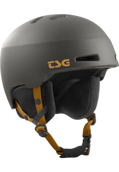 TSG Snowboardhelme Tweak Solid Color satin slate Vorderansicht
