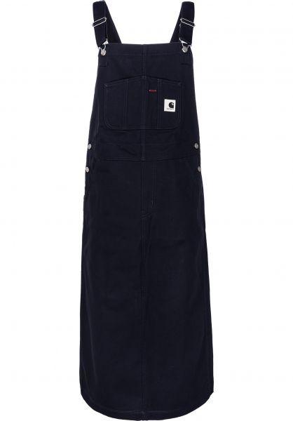 Carhartt WIP Röcke W' Bib Skirt Long darknavy-rigid vorderansicht 0510236
