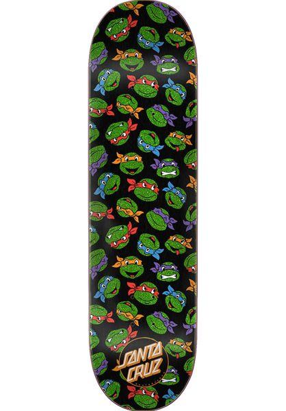 Santa-Cruz Skateboard Decks TMNT Allover Turtle black-green vorderansicht 0261434