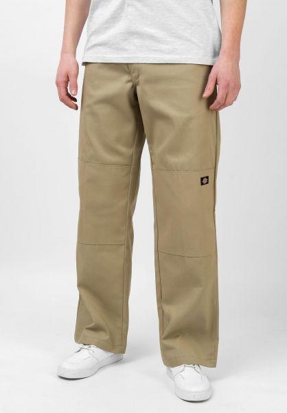 Dickies Chinos und Stoffhosen Double Knee Work Pant khaki vorderansicht 0204120