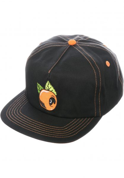 OJ Wheels Caps OJ Orange Adjustable Snapback black Vorderansicht