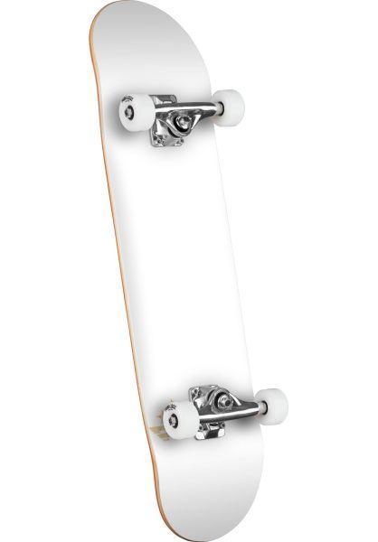 Mini-Logo Skateboard komplett ML Chevron - Shape 124 white-silver-white Vorderansicht 0161573
