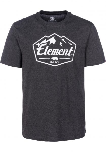 Element T-Shirts Slab charcoalheather vorderansicht 0399937