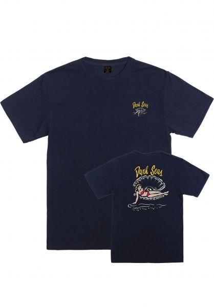 Dark Seas T-Shirts Loosen Up dustynavy vorderansicht 0322732