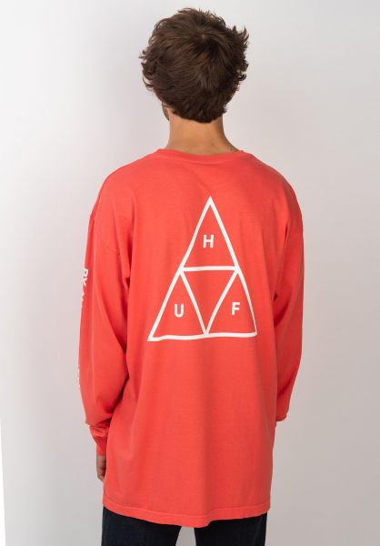 HUF Longsleeves Triple Triangle cayenne vorderansicht 0382746