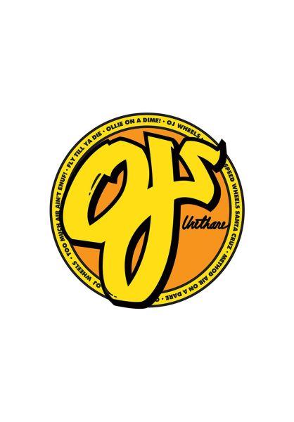 """OJ Wheels Verschiedenes OJ Yellow 3"""" yellow-orange vorderansicht 0972643"""