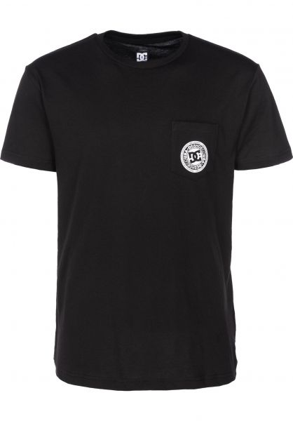 DC Shoes T-Shirts Basic Pocket 3 black vorderansicht 0399660