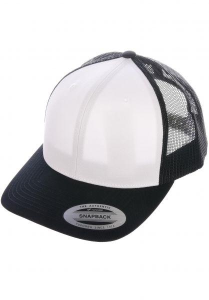 Flexfit Caps Retro Trucker Cap black-white-black vorderansicht 0566387