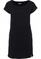 Cleptomanicx Kleider Inter Stripe black Vorderansicht