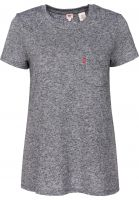 Levi's® T-Shirts The Perfect Crew grey Vorderansicht