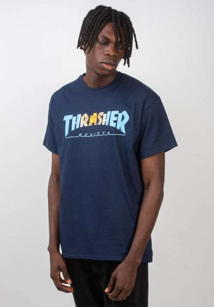 Thrasher T-Shirts Argentina navy vorderansicht 0320340