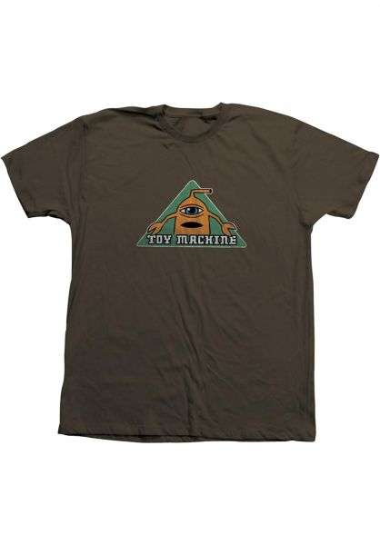 Toy-Machine T-Shirts Tri-Sect brown vorderansicht 0322055