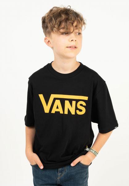 Vans T-Shirts Classic Kids black-saffron vorderansicht 0373987