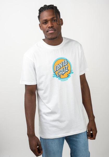 Santa-Cruz T-Shirts Dot Reflection white vorderansicht 0320439
